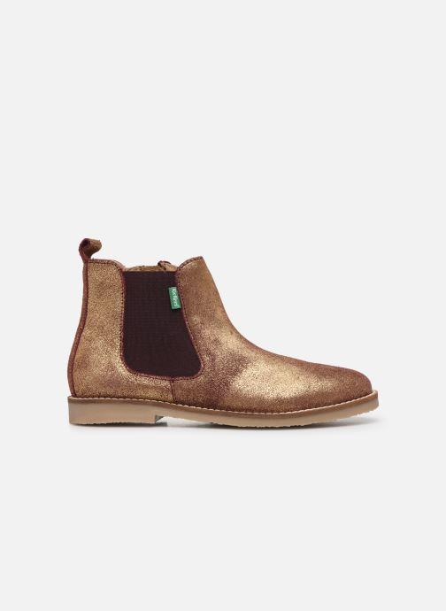Bottines et boots Kickers Tyla Or et bronze vue derrière