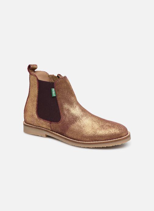 Bottines et boots Kickers Tyla Or et bronze vue détail/paire