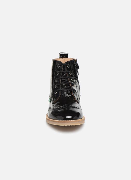 Bottines et boots Kickers Tyrol Noir vue portées chaussures