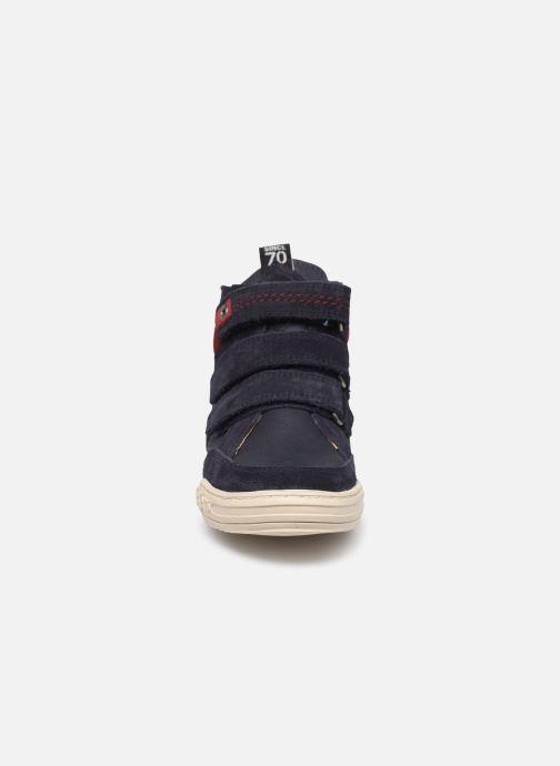 Baskets Kickers Jappa Bleu vue portées chaussures