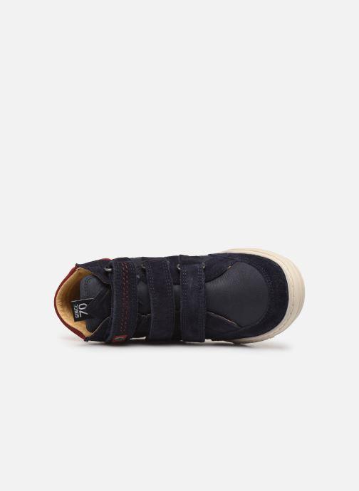 Sneakers Kickers Jappa Azzurro immagine sinistra