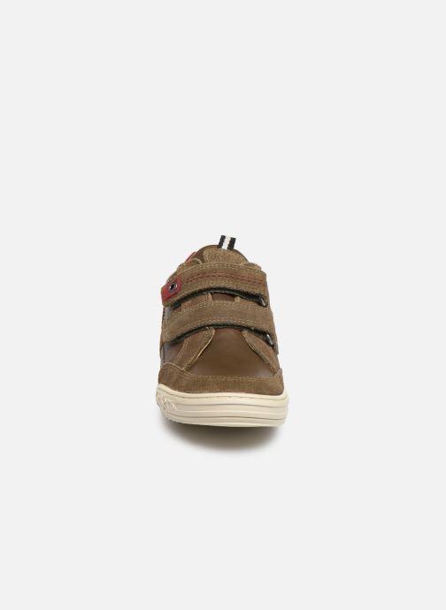 Baskets Kickers Jappa Vert vue portées chaussures