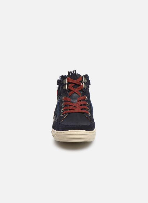 Baskets Kickers Jake Bleu vue portées chaussures