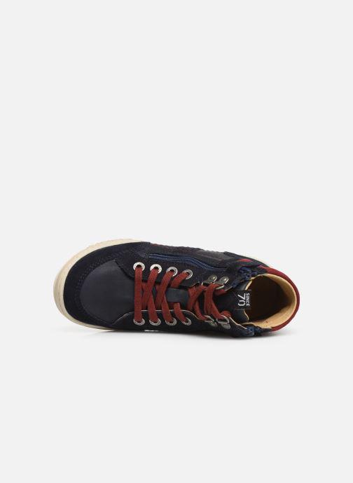 Sneakers Kickers Jake Blauw links