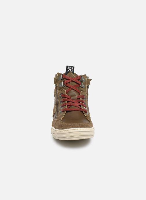 Baskets Kickers Jake Vert vue portées chaussures