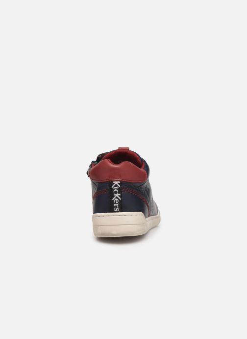 Sneakers Kickers Winley Blauw rechts