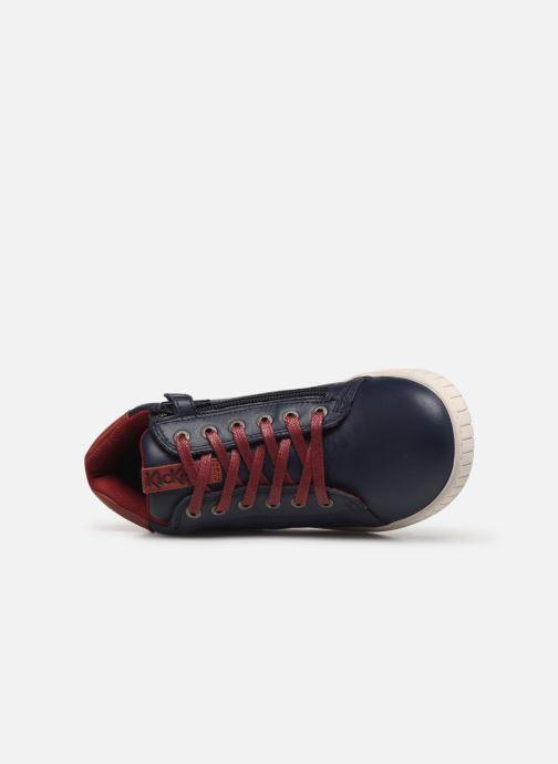 Sneakers Kickers Winley Blauw links