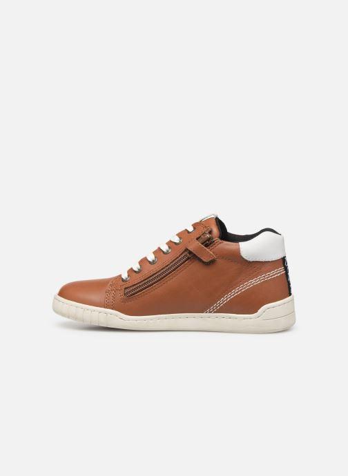 Sneakers Kickers Winley Bruin voorkant