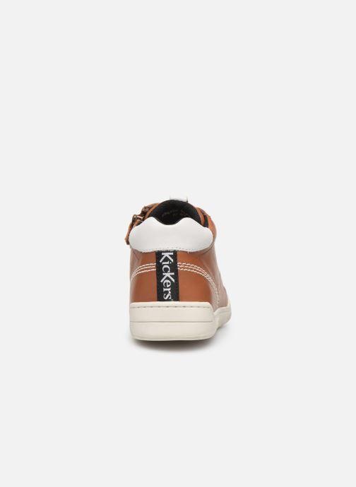 Sneakers Kickers Winley Bruin rechts