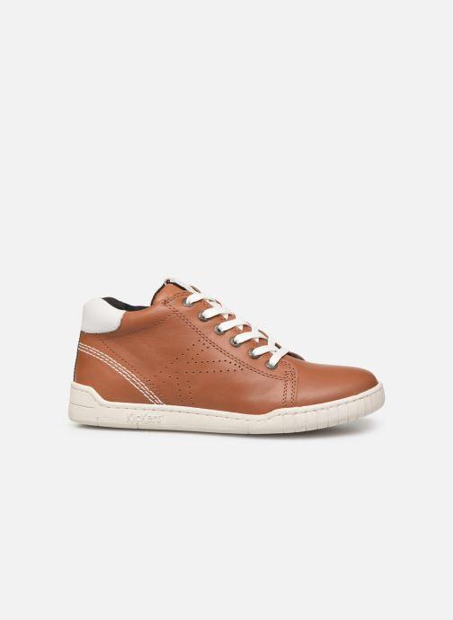 Sneakers Kickers Winley Bruin achterkant