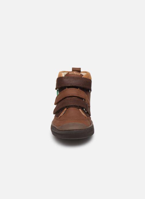 Baskets Kickers Iristrap Marron vue portées chaussures