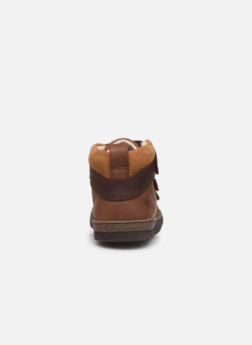Sneakers Kickers Iristrap Bruin rechts