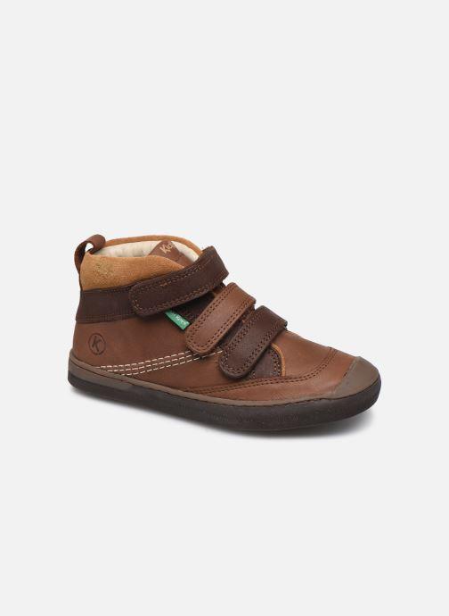 Sneakers Kickers Iristrap Bruin detail