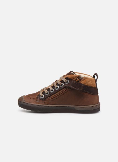 Sneakers Kickers Irmid Bruin voorkant