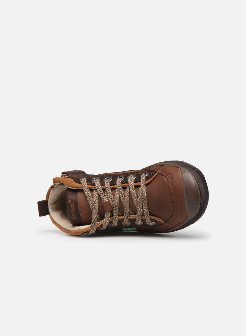 Sneakers Kickers Irmid Bruin links