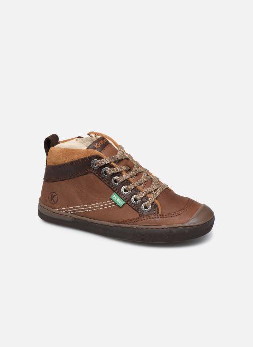 Sneakers Kickers Irmid Bruin detail