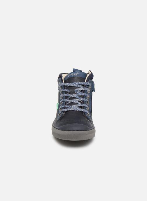 Baskets Kickers Irmid Bleu vue portées chaussures