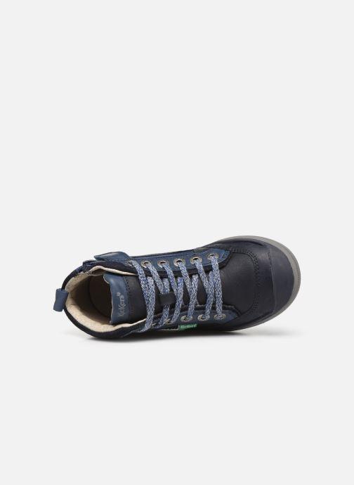 Baskets Kickers Irmid Bleu vue gauche
