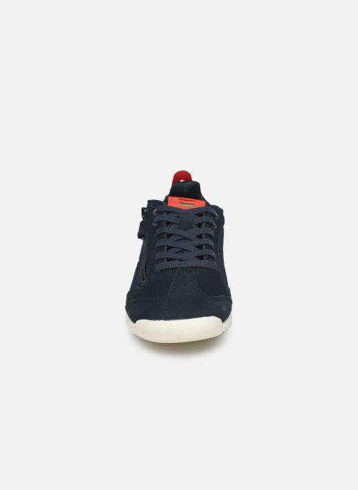 Baskets Kickers Kick 18 Cdt Zip Bleu vue portées chaussures