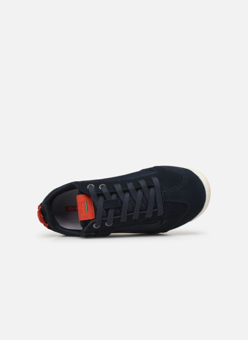 Baskets Kickers Kick 18 Cdt Zip Bleu vue gauche