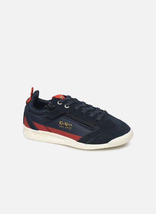 Baskets Kickers Kick 18 Cdt Zip Bleu vue détail/paire