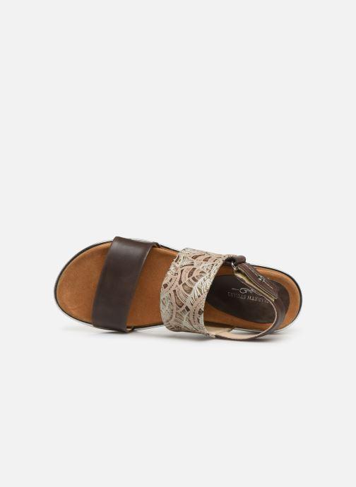 Sandales et nu-pieds Elizabeth Stuart Platon 805 Marron vue gauche