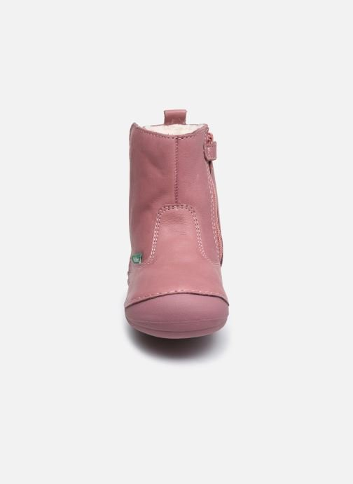 Stiefel Kickers Socool Cho rosa schuhe getragen