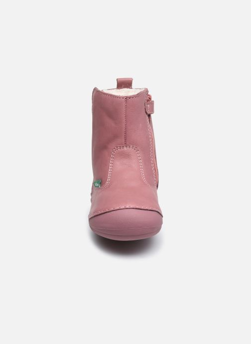 Bottes Kickers Socool Cho Rose vue portées chaussures