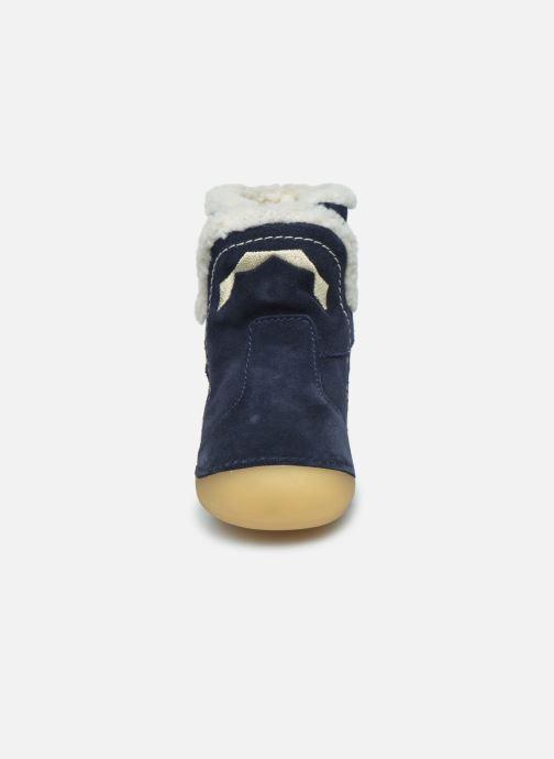 Bottes Kickers Sofur Bleu vue portées chaussures