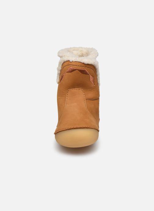 Bottes Kickers Sofur Marron vue portées chaussures