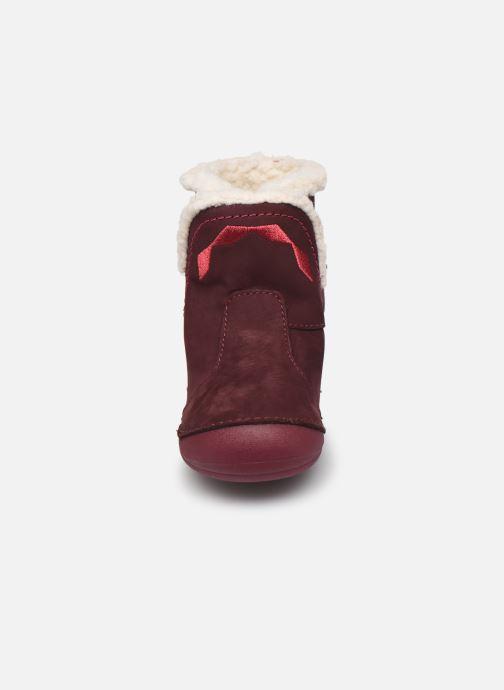 Stiefel Kickers Sofur rosa schuhe getragen