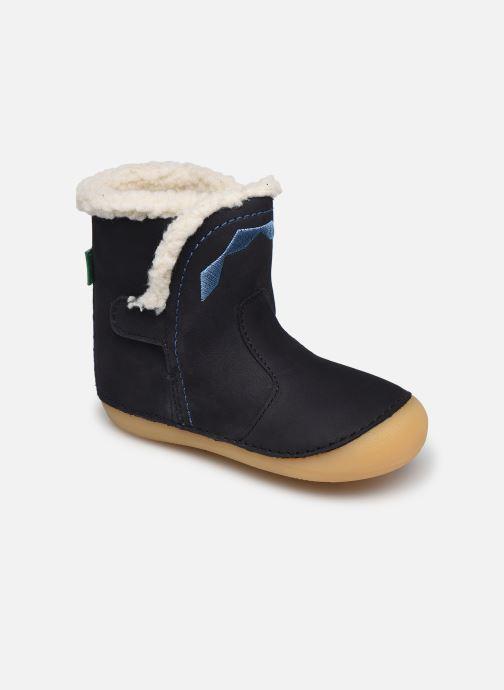 Stiefel Kickers Sofur blau detaillierte ansicht/modell