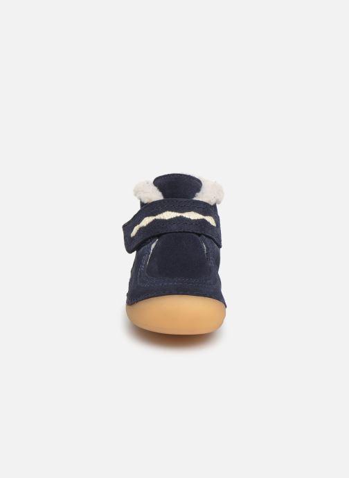 Stivaletti e tronchetti Kickers Soetnic Azzurro modello indossato