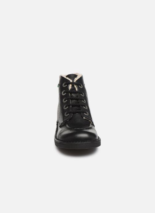 Bottines et boots Kickers Kickcol Fur Noir vue portées chaussures
