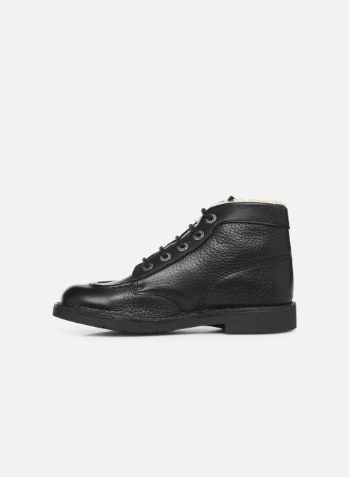 Bottines et boots Kickers Kickcol Fur Noir vue face