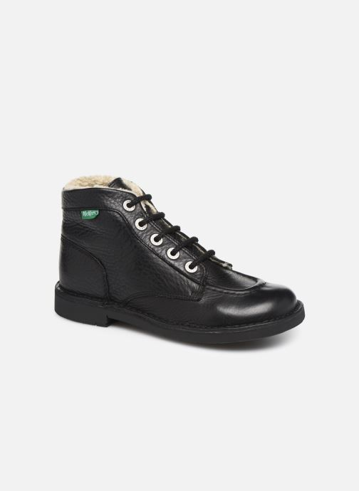 Bottines et boots Kickers Kickcol Fur Noir vue détail/paire