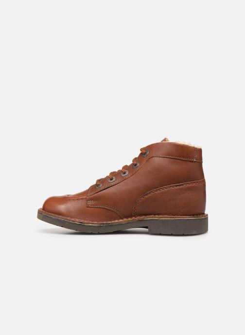 Boots en enkellaarsjes Kickers Kickcol Fur Bruin voorkant