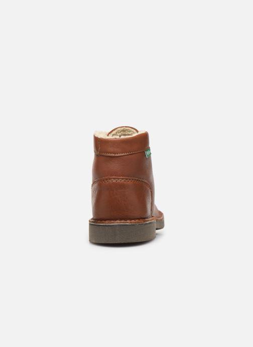 Boots en enkellaarsjes Kickers Kickcol Fur Bruin rechts