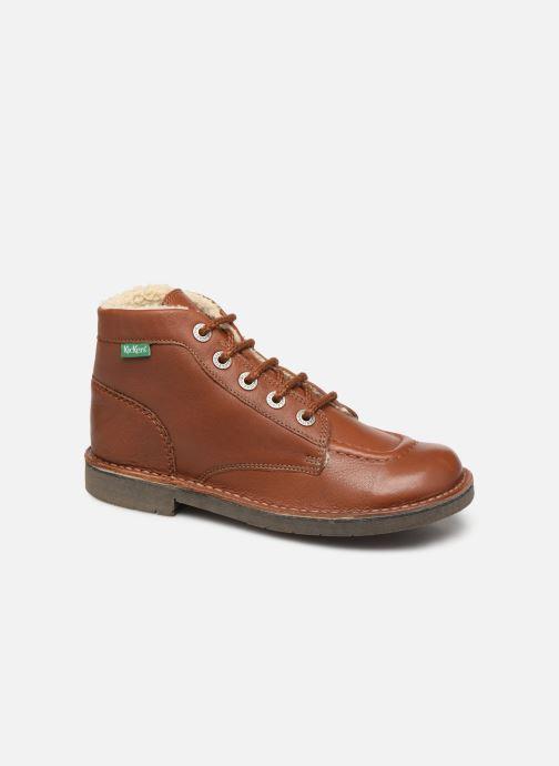 Bottines et boots Kickers Kickcol Fur Marron vue détail/paire