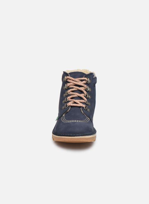 Bottines et boots Kickers Neohook Bleu vue portées chaussures
