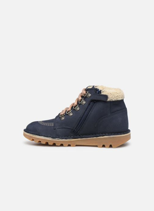Bottines et boots Kickers Neohook Bleu vue face