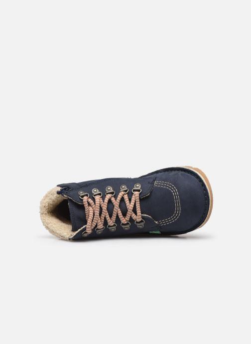 Bottines et boots Kickers Neohook Bleu vue gauche