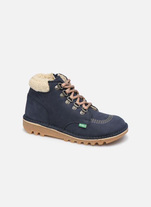 Bottines et boots Kickers Neohook Bleu vue détail/paire