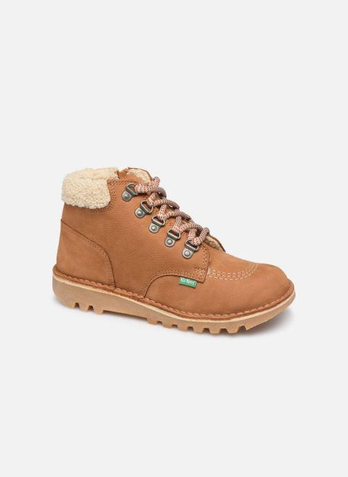 Bottines et boots Kickers Neohook Marron vue détail/paire