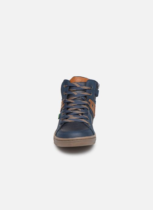 Baskets Kickers Lowell Bleu vue portées chaussures