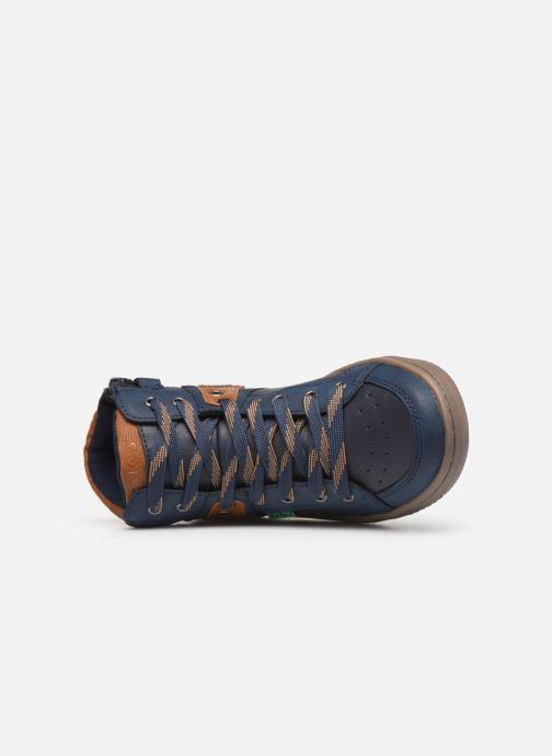 Sneakers Kickers Lowell Azzurro immagine sinistra