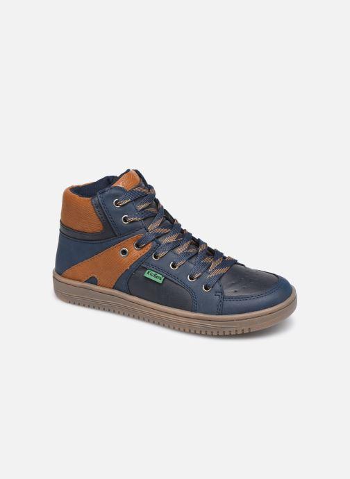 Sneakers Kickers Lowell Blauw detail