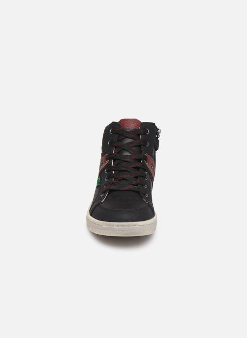 Baskets Kickers Lowell Noir vue portées chaussures