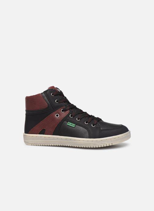Sneakers Kickers Lowell Zwart achterkant