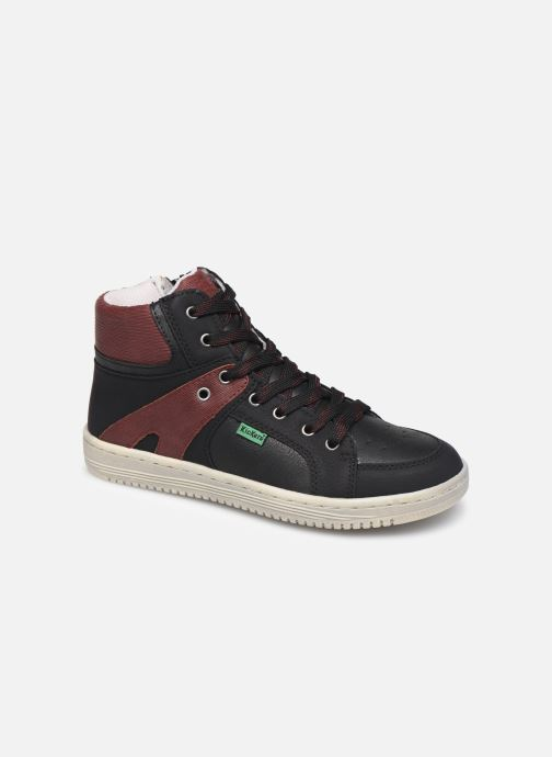 Sneakers Kickers Lowell Zwart detail